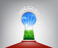 Success Keyhole Concept Stock Image