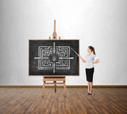 Success labyrinth Stock Image