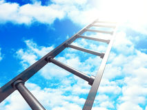 Success Ladder On Blue Sky Background Stock Photo