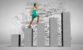 On success ladder Stock Photo
