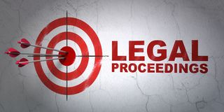 Law concept: target and Legal Proceedings on wall background Stock Images