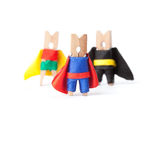 Success leadership conceptual image. Superheroes Stock Images