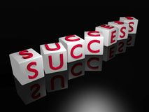 Success. Letter cubes spelling out the word success Stock Image