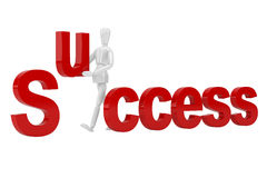 Success letter  in isolate with clipping path Royalty Free Stock Photos