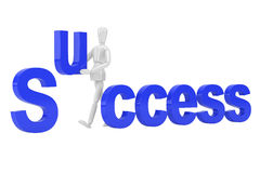 Success letter  in isolate with clipping path Royalty Free Stock Photo