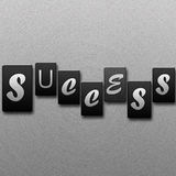 Success- Letterpress letters Stock Photography