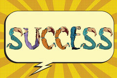Success, letters business people Royalty Free Stock Images