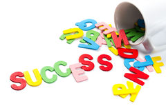 Success letters Royalty Free Stock Photography