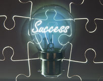 Success light bulb Royalty Free Stock Images