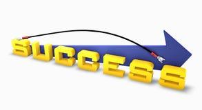 Success linked on up arrow Stock Photo