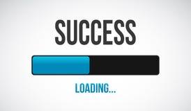 Success loading bar illustration design Stock Images
