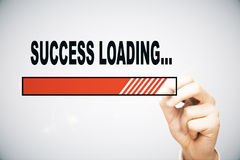Success loading. Hand drawing loading success bar on light background royalty free illustration