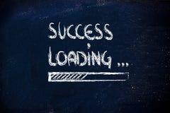 Success loading, progress bar on blackboard Royalty Free Stock Photography