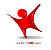 Success logo. 3d element for company name design Stock Photography