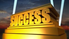 Success Logo stock footage