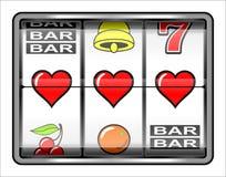 Success in love. Gambling illustration, 3 hearts, concept success in love royalty free illustration
