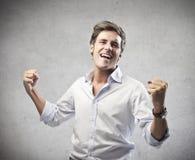 Success Man. Man enjoying for his success Stock Photo