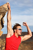 Success man climbing Royalty Free Stock Image