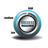 Success management button Royalty Free Stock Photography