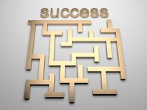 Success maze. 3d rendered maze to success royalty free illustration