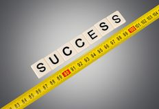 Success. Measuring Aspirations Comparison Instrument of Measurement Business Work Tool Stock Image
