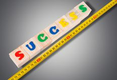 Success Measuring. Aspirations Comparison Instrument of Measurement Business Work Tool Finance Stock Image