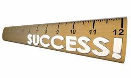 Success Mesasure Good Performance Ruler Royalty Free Stock Photos