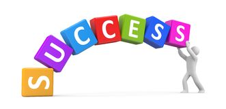 Success metaphor Stock Photo