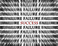 Success in the midst of failure opposite words Royalty Free Stock Photos