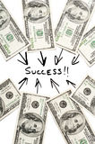 Success and money Royalty Free Stock Images