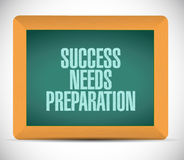 Success needs preparation board sign concept Royalty Free Stock Photo