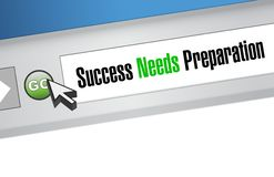 Success needs preparation browser sign concept Stock Photos