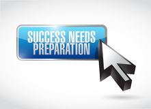Success needs preparation button sign Royalty Free Stock Photo
