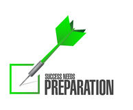 success needs preparation check dart sign concept Royalty Free Stock Photos