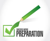 Success needs preparation check mark sign Royalty Free Stock Photo