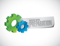 Success needs preparation gear sign concept. Illustration design Royalty Free Stock Photos