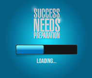 Success needs preparation loading bar sign concept Stock Images