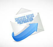 Success needs preparation mail sign Royalty Free Stock Photos