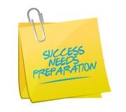 Success needs preparation memo sign Royalty Free Stock Photos