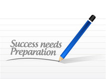 success needs preparation message sign concept Royalty Free Stock Photography