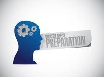 Success needs preparation mindset gear sign Stock Image
