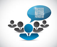 Success needs preparation teamwork sign Stock Photography