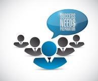 Success needs preparation teamwork sign Stock Photography