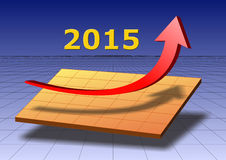 Success for new year 2015. Illustration for success and upswing at new year date 2015 Royalty Free Stock Photo