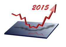 Success for new year 2015. Red arrows shows success for new year 2015 Royalty Free Stock Image