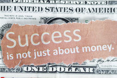 Success is not just about money Royalty Free Stock Photo