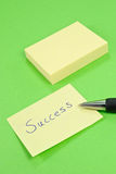 Success Note Stock Images