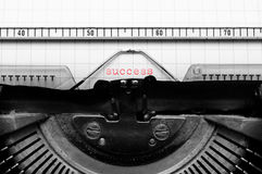 Success with old typewriter Royalty Free Stock Images
