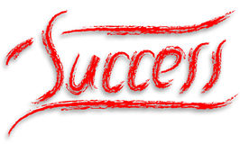 Success paint. Illustration red on white Royalty Free Illustration