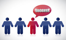 Success people row. illustration design Royalty Free Stock Photos